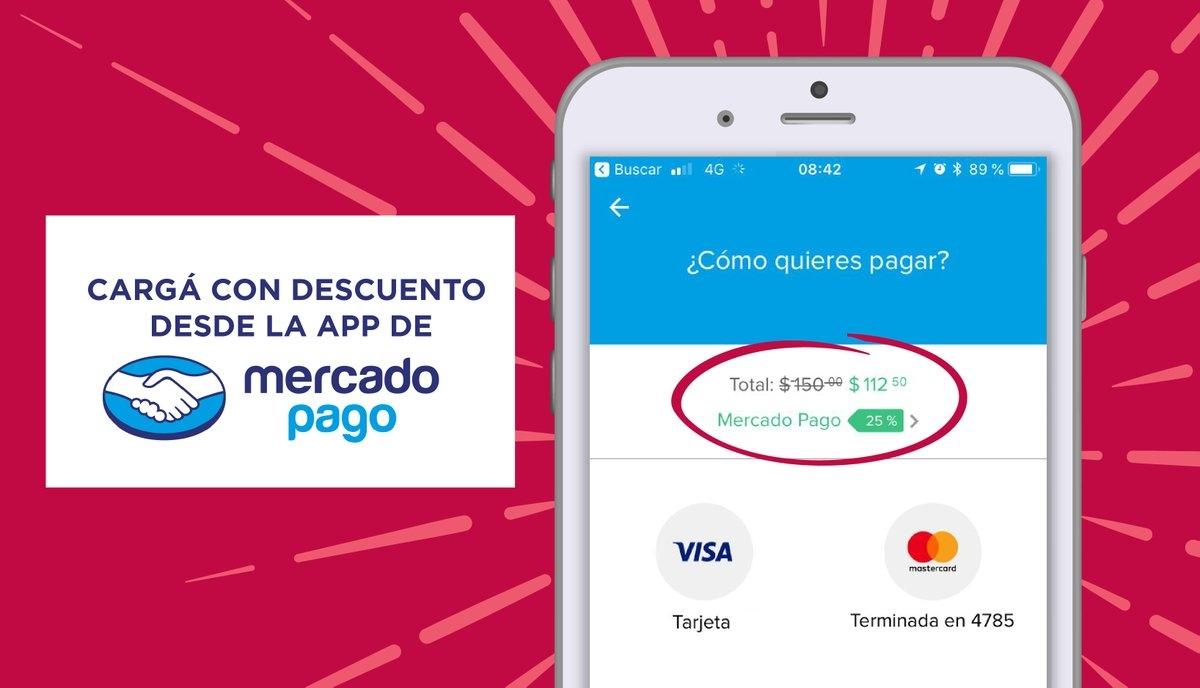 Mercadopago te regala $25 pesos para recargar