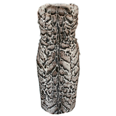christopher kane jaguar print fur dress