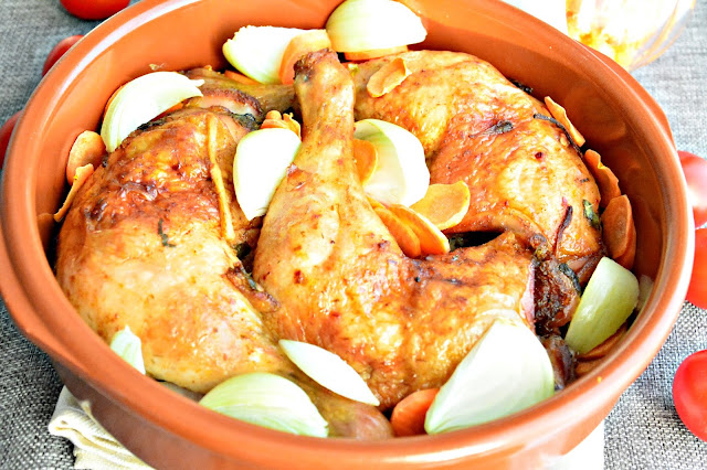 udka kurczaka pieczone z chrupiącą skórką