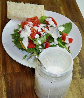 Not low fat, but ranch dressing can still help create a healthy low calorie and low fat meal.