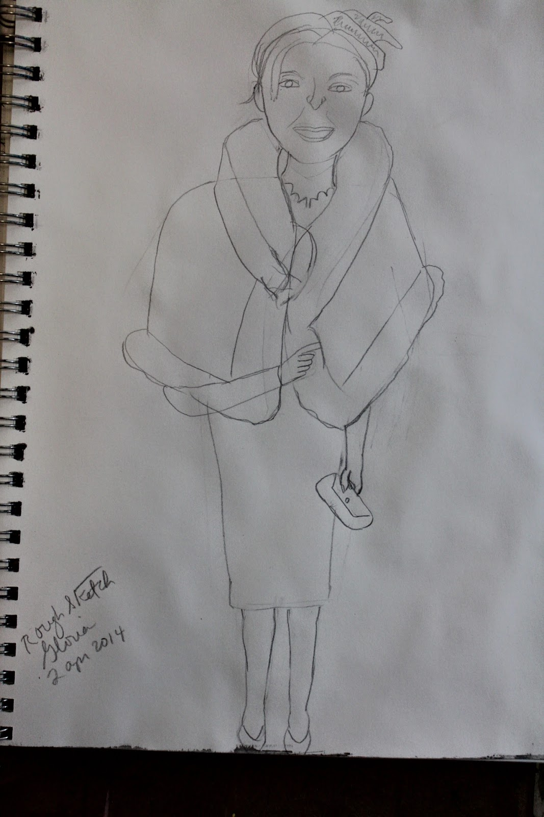 "rough sketch ""Aristocrat"" by Gloria Poole of Missouri; yr 2014"