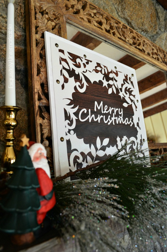 Merry Christmas Wooden Gift Bag Sign