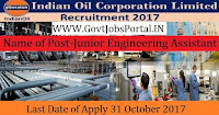 Indian Oil Corporation Limited Recruitment 2017– 45 Junior Engineering Assistant