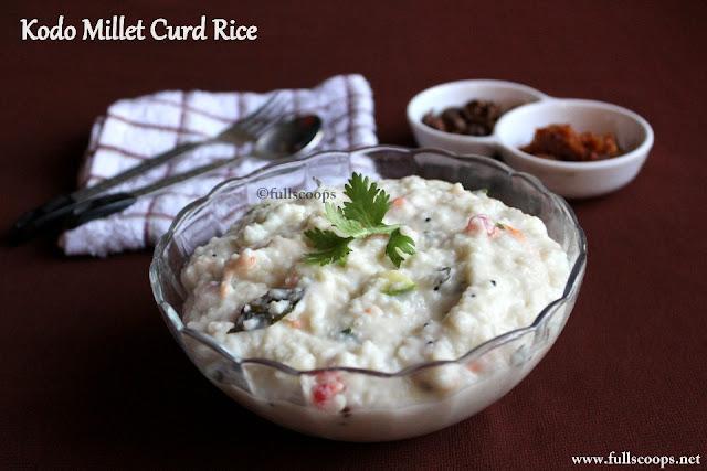 Kodo Millet Curd Rice