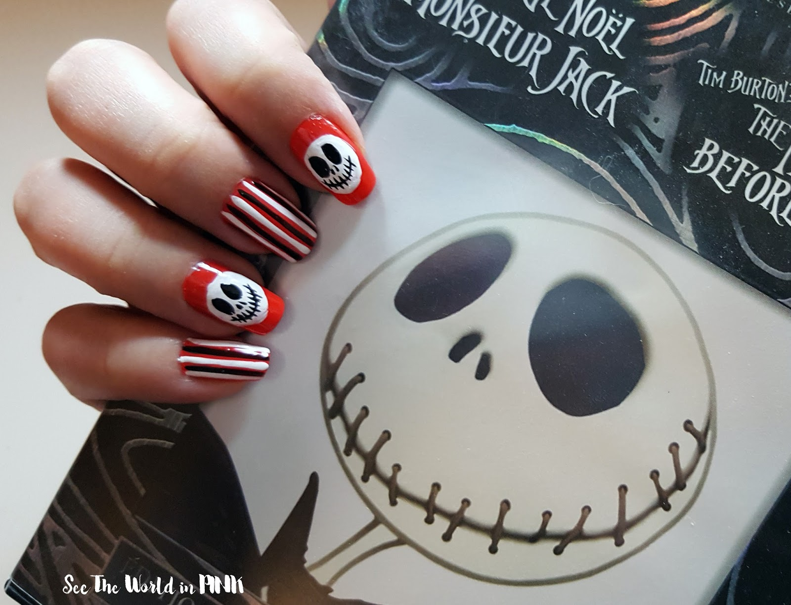 Manicure Wednesday - The Nightmare Before Christmask Jack Skellington Nail Art!