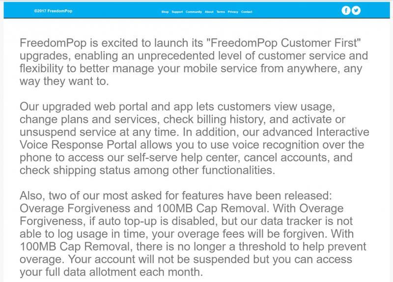 Freedompop cancel service