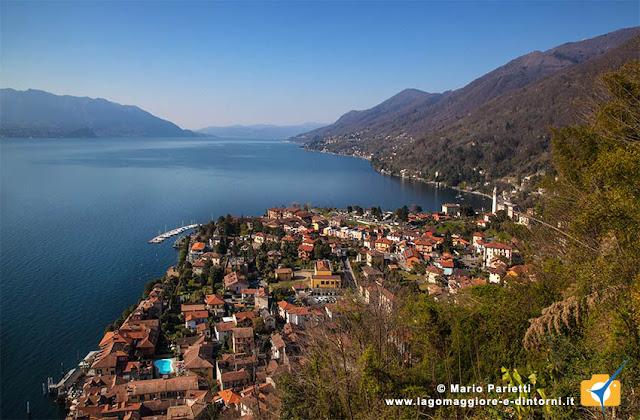 Panoranma di Cannero Riviera con il lago Maggiore
