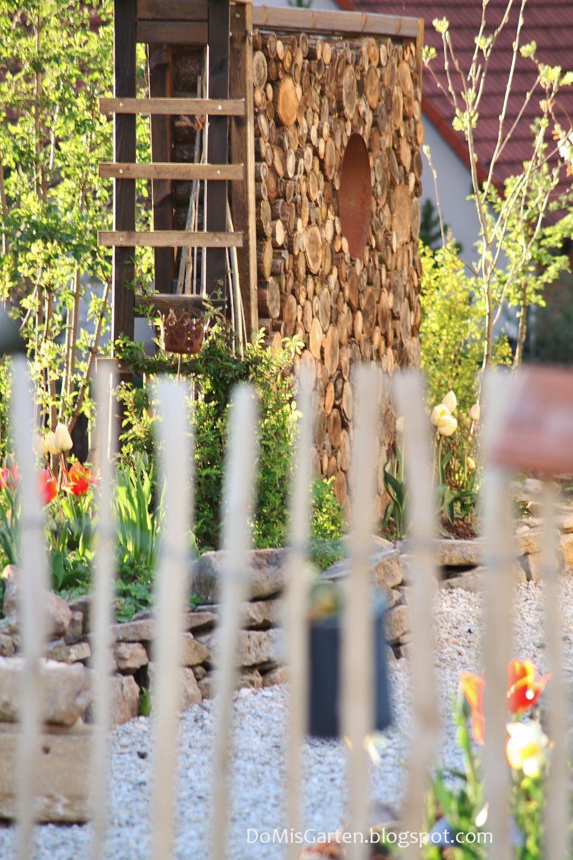 Do mi s garten neuaufbau rundholzsichtschutz mit rosenbogen for Hornbach dekoration
