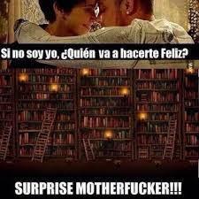 Meme sobre bibliotecas