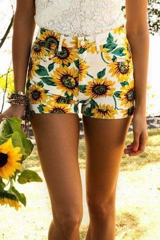 Sunflower shorts ♥