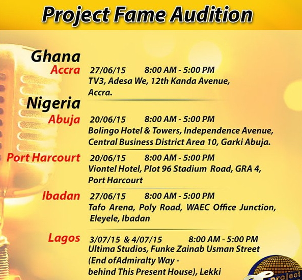 project fame season 8 audition