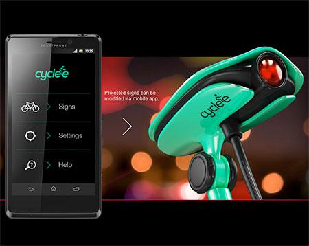 Cyclee, Teknologi Proyektor Untuk Keselamatan Bersepeda
