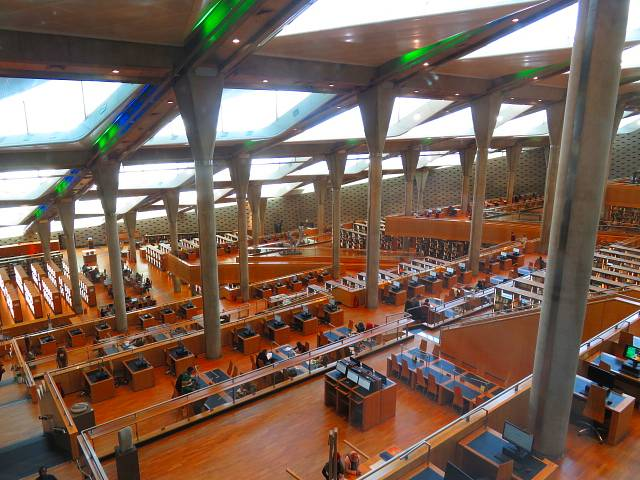 Reading room bibliotheca Alexandrina