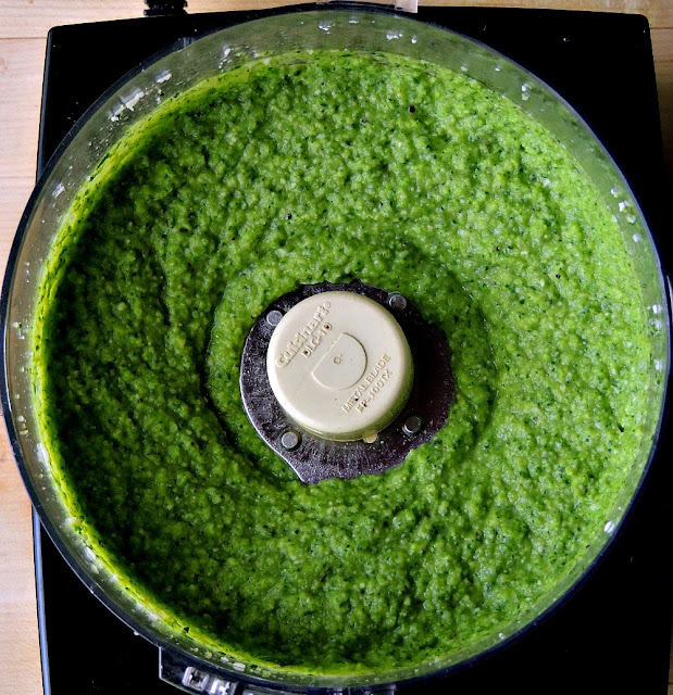 Broccoli Pesto - Switch up your normal pesto routine by giving this lovely broccoli pesto a try. From www.bobbiskozykitchen.com