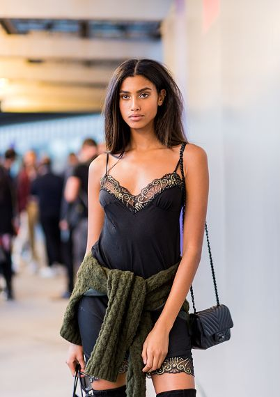 Street Style: Imaan Hammam After Versace in Paris