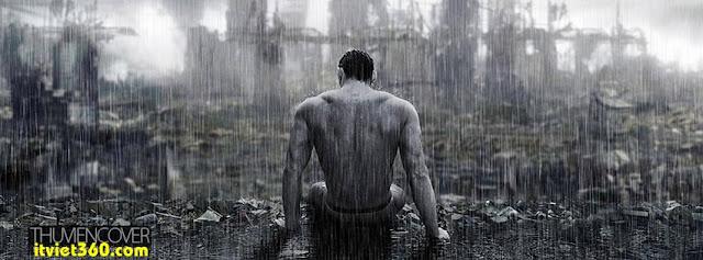 Ảnh bìa cho Facebook mưa | Cover FB timeline rain, boy cô đơn dưới mưa