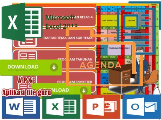 Aplikasi 2017 Prota Promes Kelas 4 SD Format Microsoft Excel