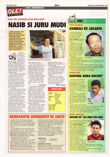 HALIK JIRO TERSANGKA KASUS MAFIA WASIT LIGA INDONESIA