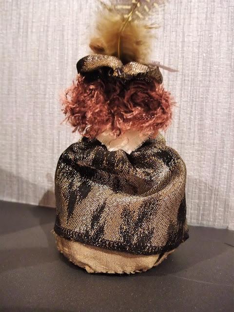 Little Georgian Lady peg doll by Karen Vallerius