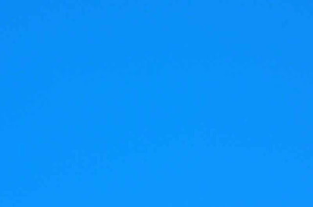 blue sky, no clouds