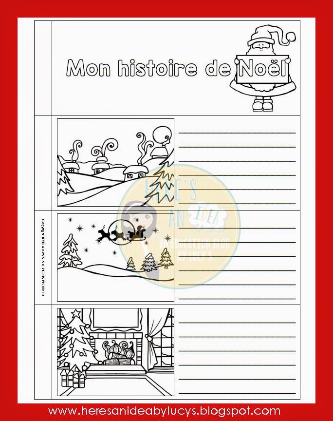 French Christmas Interactive Flip Book