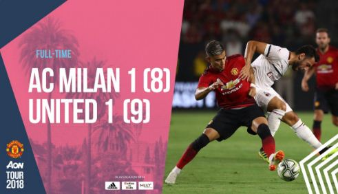 AC Milan vs United 1-1 (8-9) Video Gol & Highlights