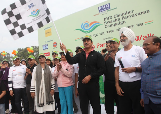 Rajyavardhan Singh Rathore. Hon'ble Minister of State, Ministry of Information & Broadcasting, Government of India at the Flag off Point-