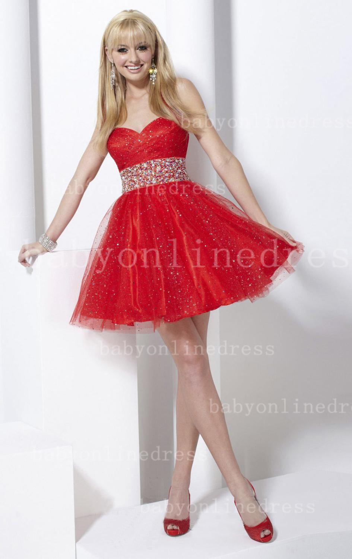 Vestidos de xv rojos cortos