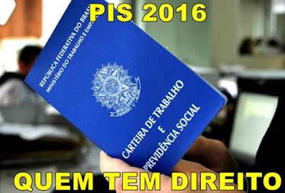 PIS 2016 Quem tem direito