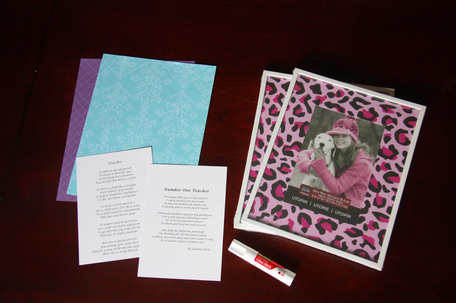 Teacher Appreciation Gift: A Framed Poem - The Lovebugs Blog