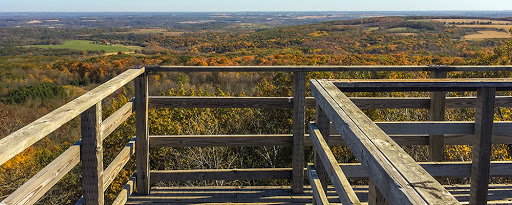 view from east tower in Blue Mounds Park