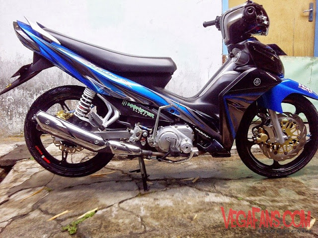 Modifikasi Jupiter Z New Biru Hitam Modif Standar Simple