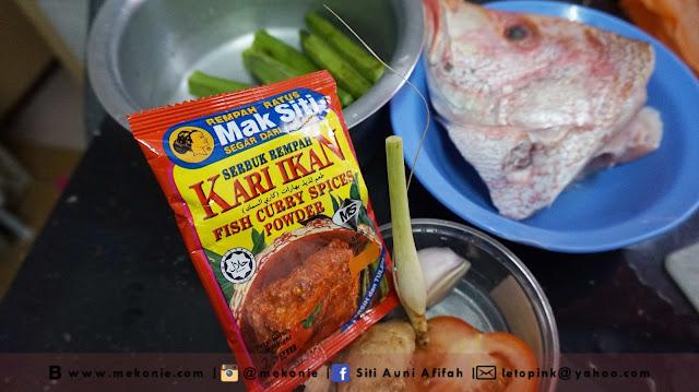 Resepi Kari Kepala Ikan Ala-Ala Mek Onie