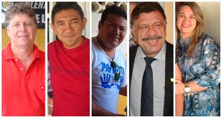 Emídio Vasconcelos, Itamar França, Mário Martins, Zé Patriota e Aline Mariano