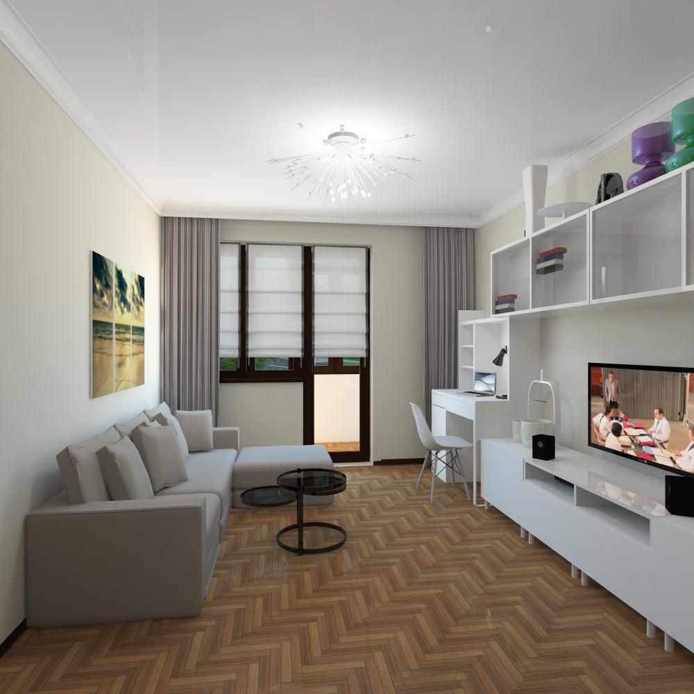 Дизайн однокомнатной квартиры 36 кв.м.