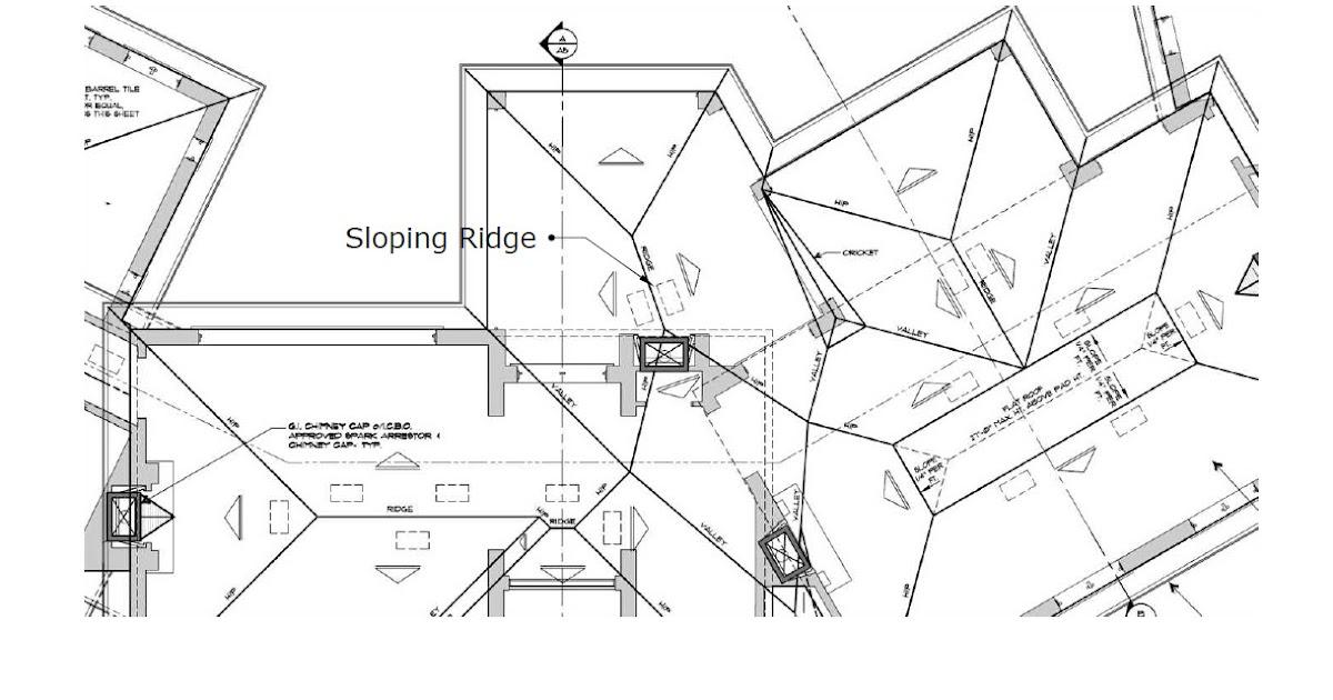 Roof Framing Geometry Sloping Ridges