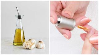 lotion d'ail et d'huiles pour durcir les ongles