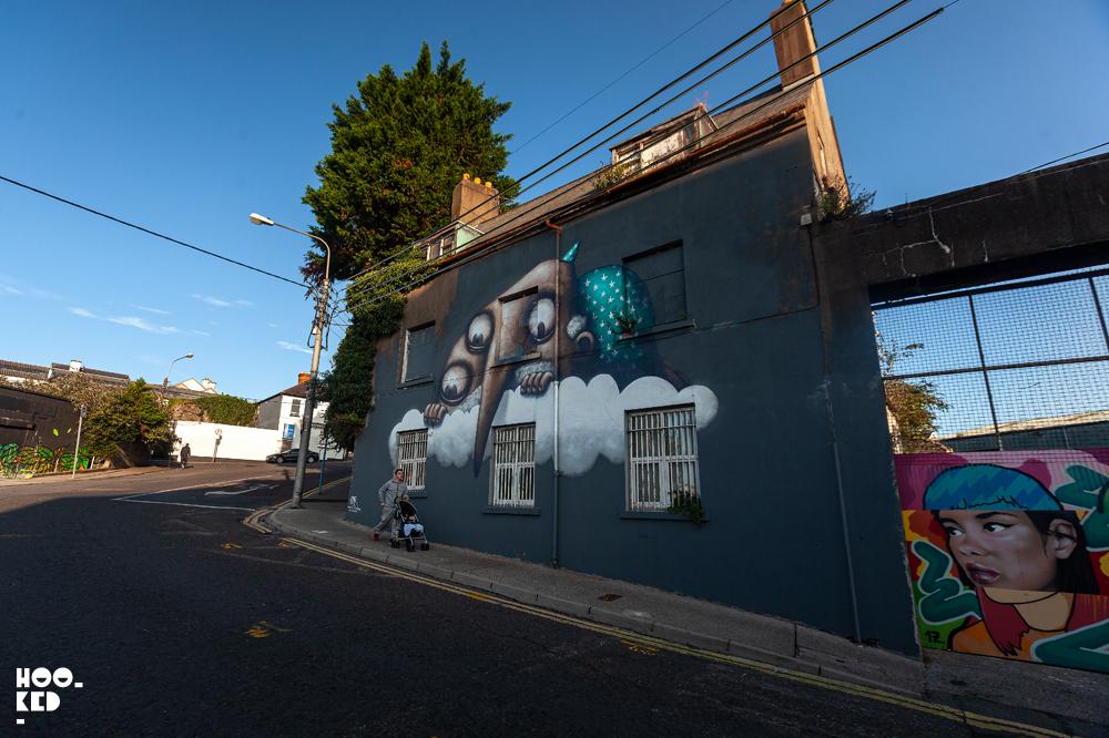 Waterford street art festival mural by French street artist Ador