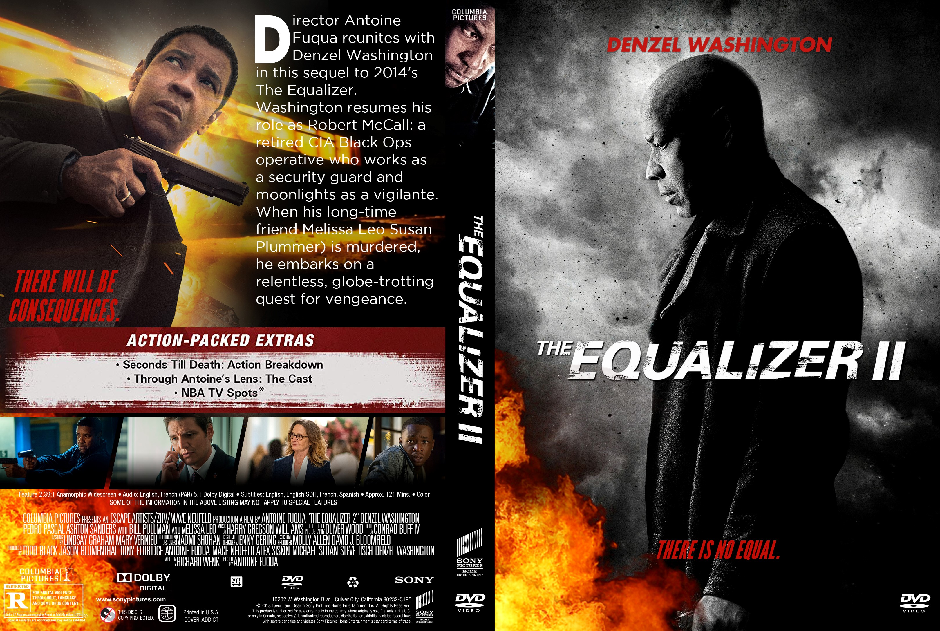 The Equalizer 2 Dvd Cover Cover Addict Dvd Bluray Covers And