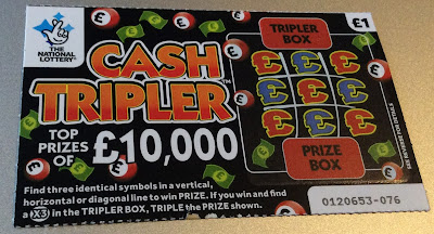 £1 Cash Tripler Card From The National Lottery