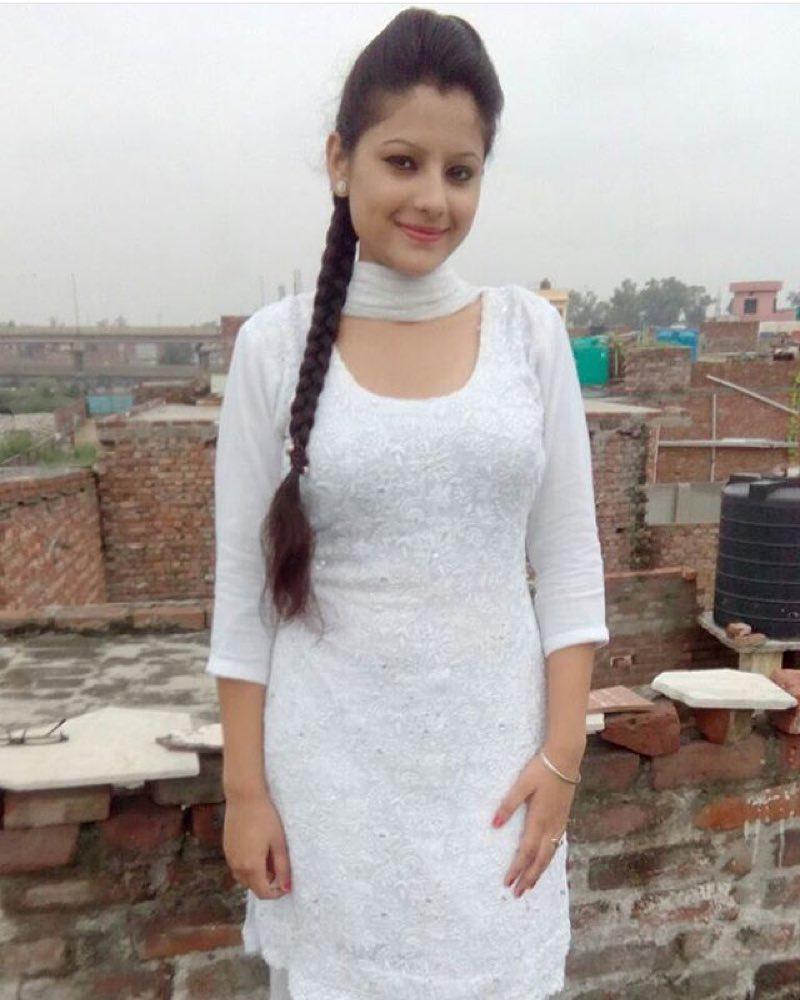 Desi Girl in White dress before Breakfast