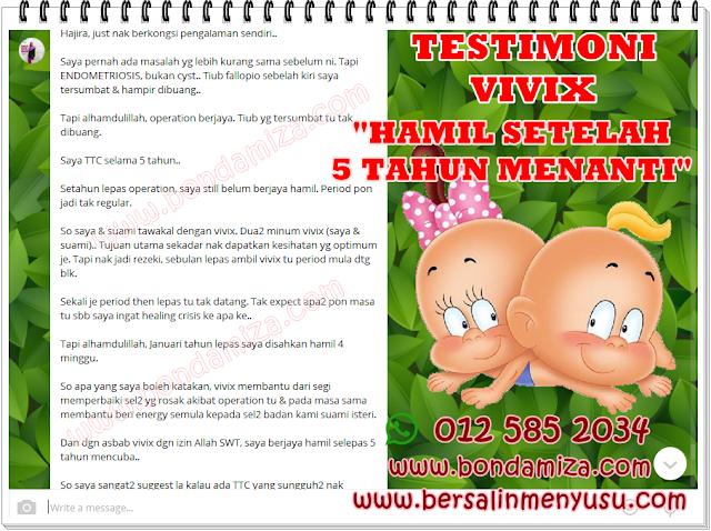 IKHTIAR VIVIX & SUPLEMEN SHAKLEE : HAMIL SETELAH 5 TAHUN MENANTI