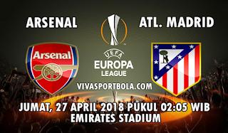 Prediksi Bola Arsenal vs Atletico Madrid 27 April 2018
