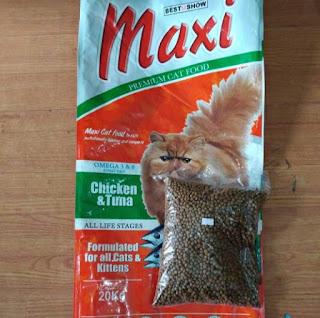 Merk Makanan Kucing yang Bagus dan Murah Maxi