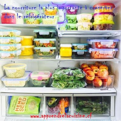 La nourriture la plus importante à conserver dans le réfrigérateur