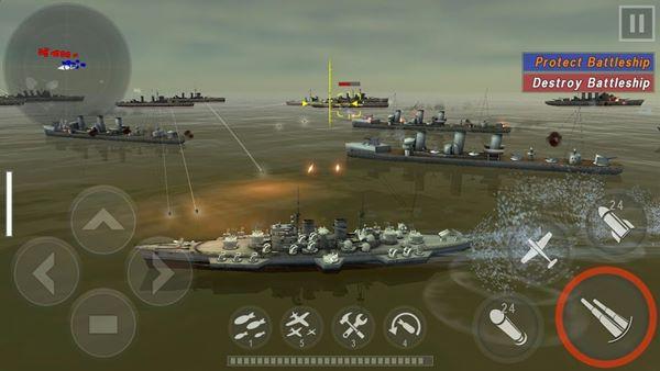 warship battle 3d world war II ganeplay