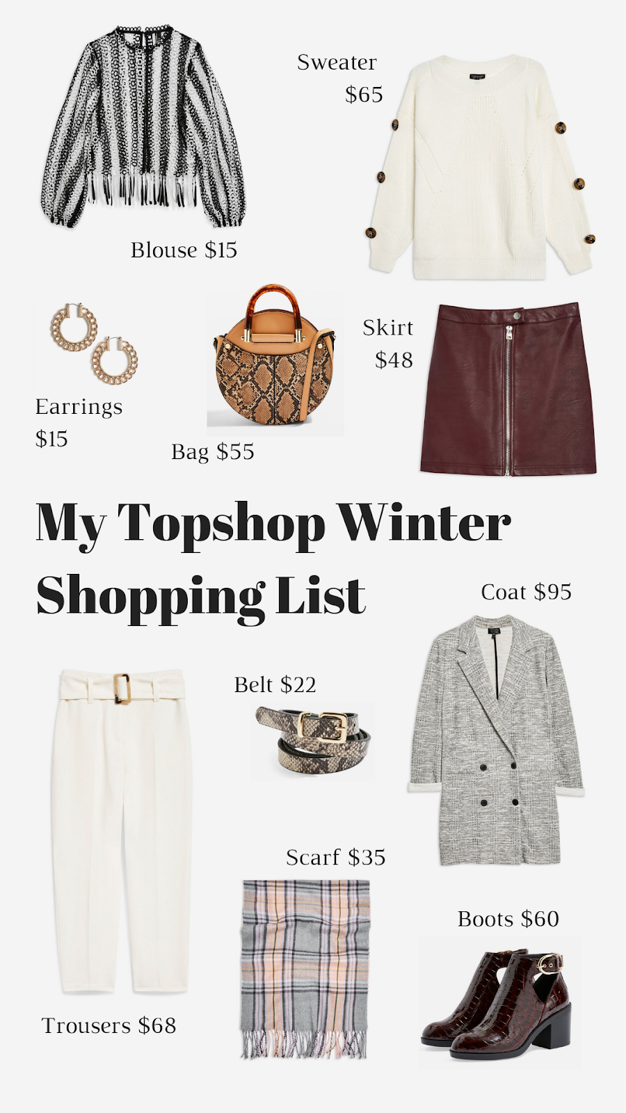 My Topshop Winter Shopping List