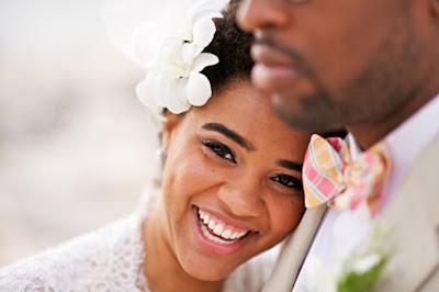 Stunning smiling bride