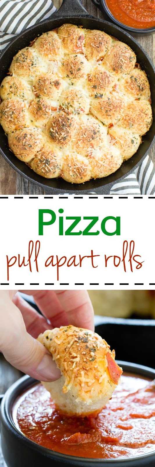 Pizza Pull Apart Rolls with Sauce