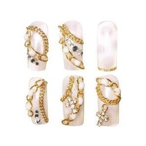 nail art nails designs with ornate jewels